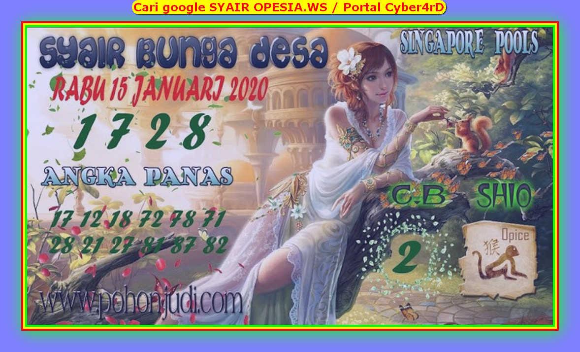 Kode syair Singapore Rabu 15 Januari 2020 165