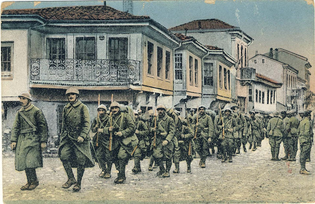 The entry of the French soldiers in Bitola on 19 November 1916.