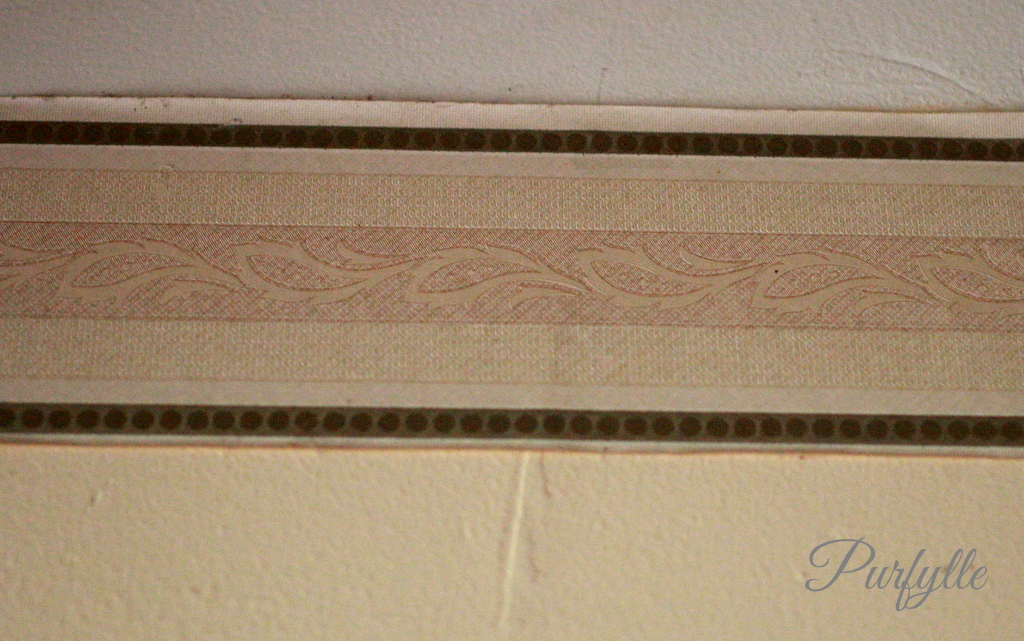 old decorative wall paper strip