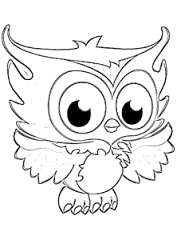 Printable Baby Owl Animals Coloring Pages For Children