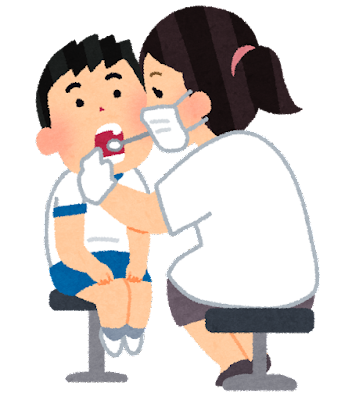 歯科検診のイラスト(学校の健康診断)