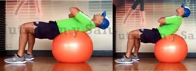 Contracción abdominal sobre fitball