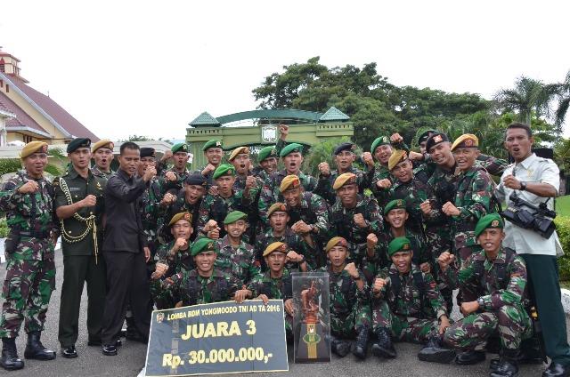 Tim Yomg Moodo Kodam IM Rebut Piala KASAD Cup TA 2016 tingkat Kompi TNI-AD
