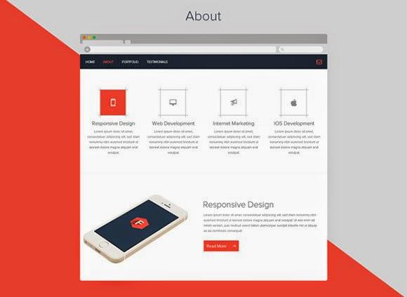 Flatstyle Web Layout Free PSD