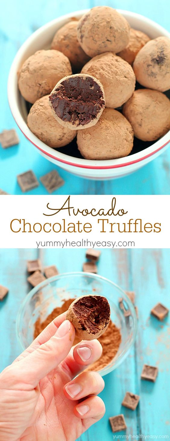 AVOCADO TRUFFLE CHOCOLATES RECIPE