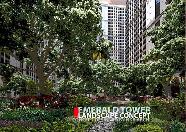 Vườn sinh thái của dự án The Emerald Mỹ Đình