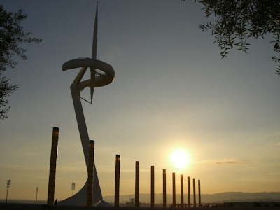 Calatrava Telecommunication Tower in the Olympic Ring of Barcelona