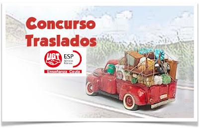 Concurso de traslados docente 2018, Enseñanza UGT Ceuta, Blog de Enseñanza UGT Ceuta