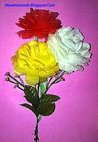 cara membuat bunga dahlia dari kantong plastik bekas