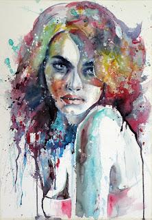 arte-de-la-acuarela-sensacionales-pinturas-femeninas rostros-lindas-mujeres-acuarelas