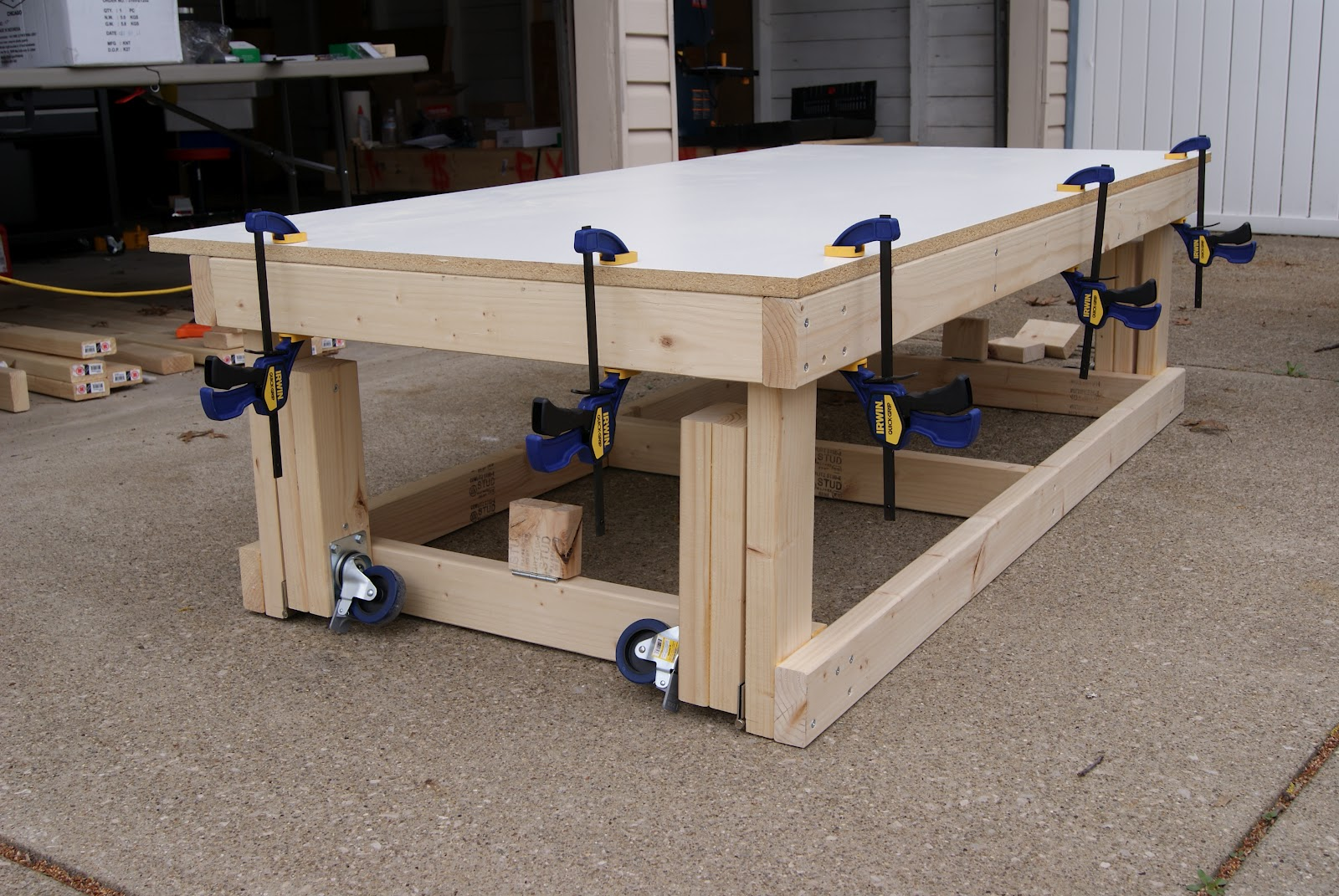 workbench plans with wheels | woodproject