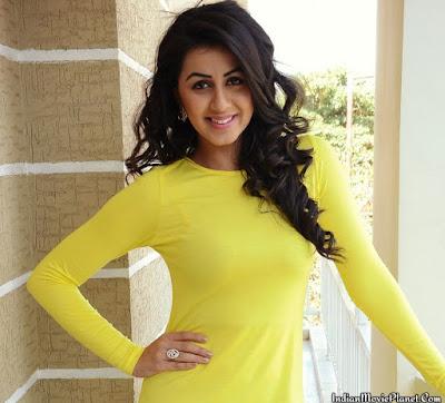 nikki galrani hot yellow dress stills wallpapers