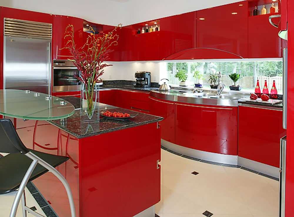 kitchen designs red kitchen furniture modern kitchen. Luxurious Compact Red Kitchen Designs Furniture Modern