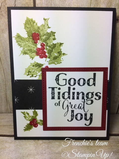 Good Tidings, Designer Paper Merry Little Christmas, Stampin'Up!