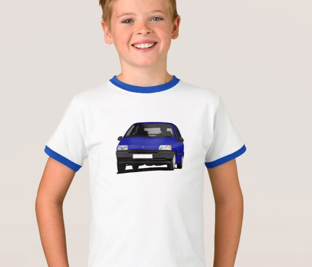 Zazzle Renault Clio t-shirts for kids