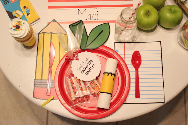 Back to School Breakfast Place Setting