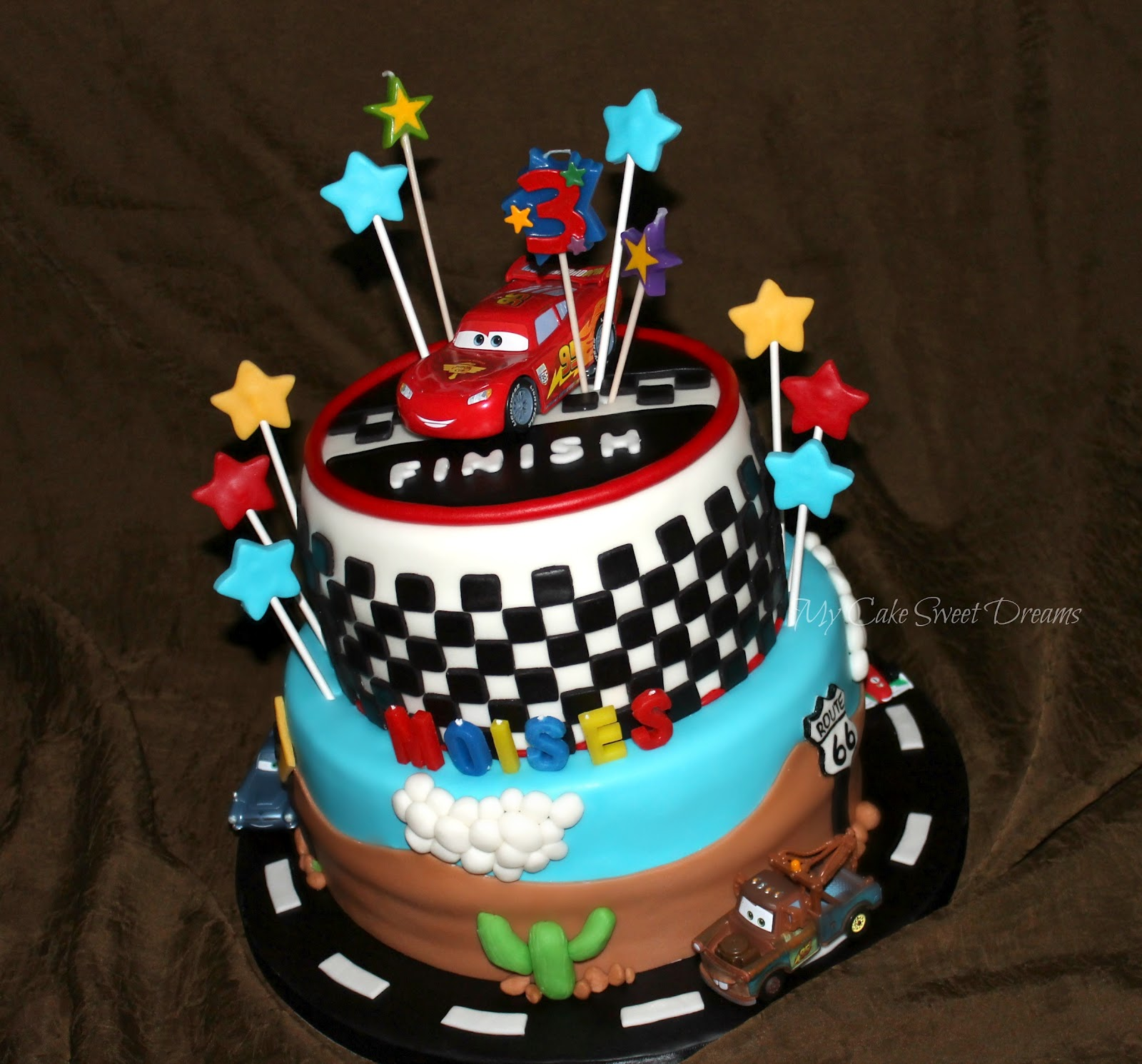 Muscle Car Birthday Cake