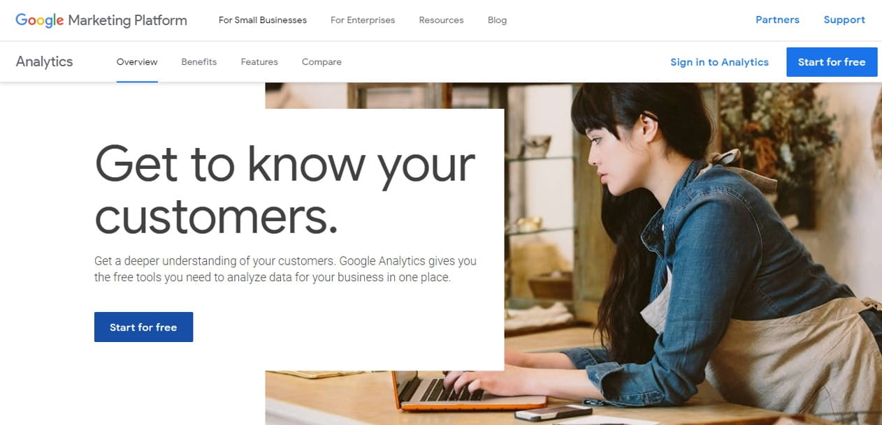 Google Analytics free blogging tool