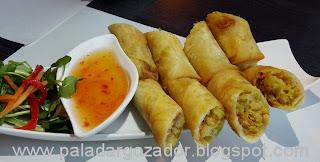 Soho thai restaurante Santiago spring rolls