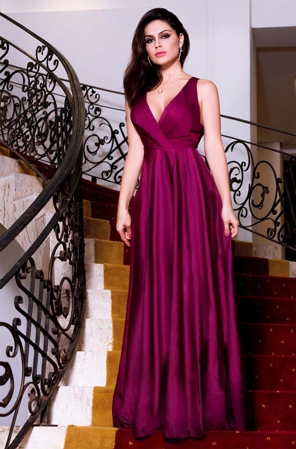 vestido longo vinho para madrinha de casamento