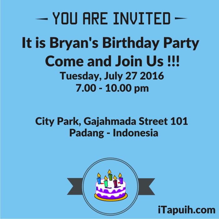 Contoh invitation letter birthday party beserta artinya cogimbo contoh percakapan bahasa inggris expressing inviting accepting stopboris Choice Image