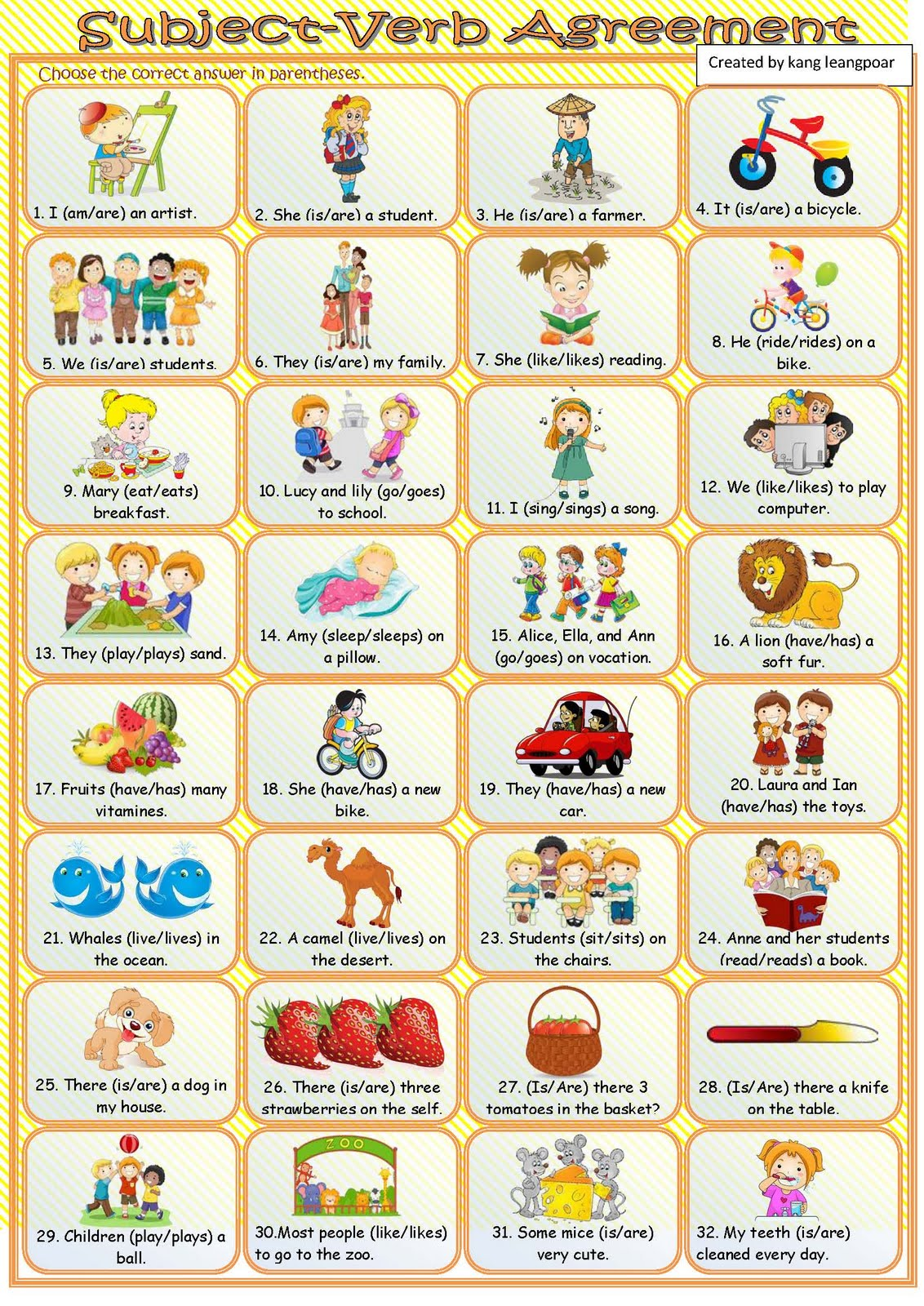 Subject Verb Agreement Sentences Example | Create professional ...