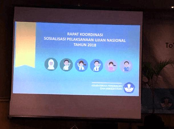 Sosialisasi Pelaksanaan UN Tahun 2018