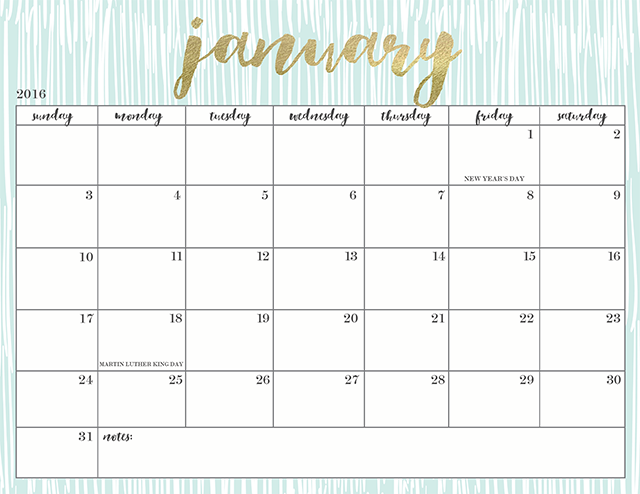 FREE PRINTABLE 2016 CALENDARS Oh So Lovely Blog – Printable Calendars