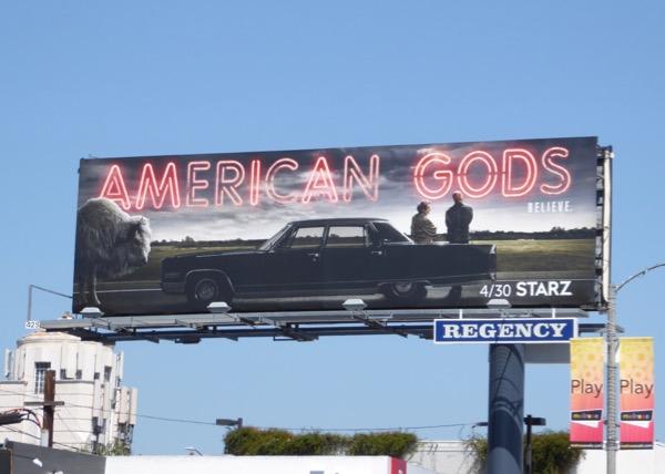 American Gods Starz series billboard