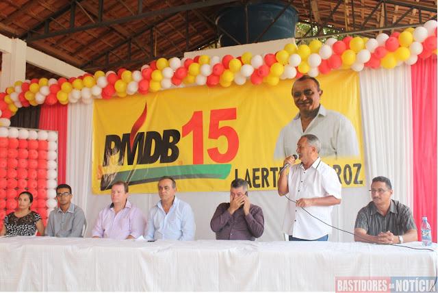 Atenor Nogueira PMDB apoia Laerte Queiroz
