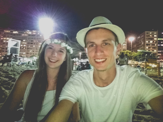 Casal no Ano Novo em Copacabana