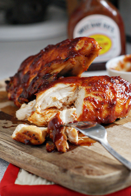 #Recipe : Super Moist Oven Baked BBQ Chicken