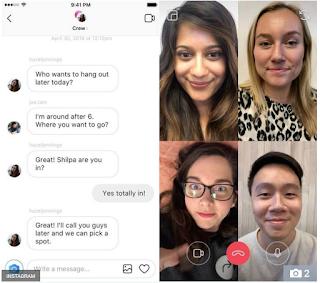 Update Instagram menambahkan fitur video call - inilah Cara video call di instagram