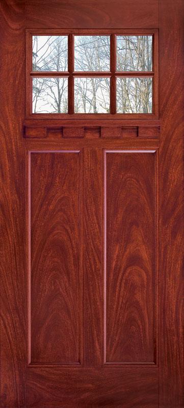 6-lite craftsman cherry mahogany finish & New Year New Door!
