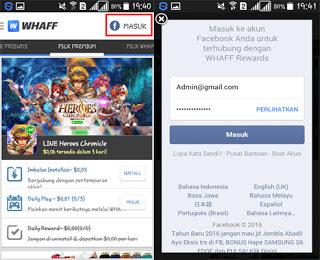 Cara Mendapatkan Uang Dari Aplikasi Whaff Rewards Android