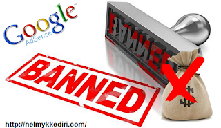 Akun adsense Blog ini dibanned