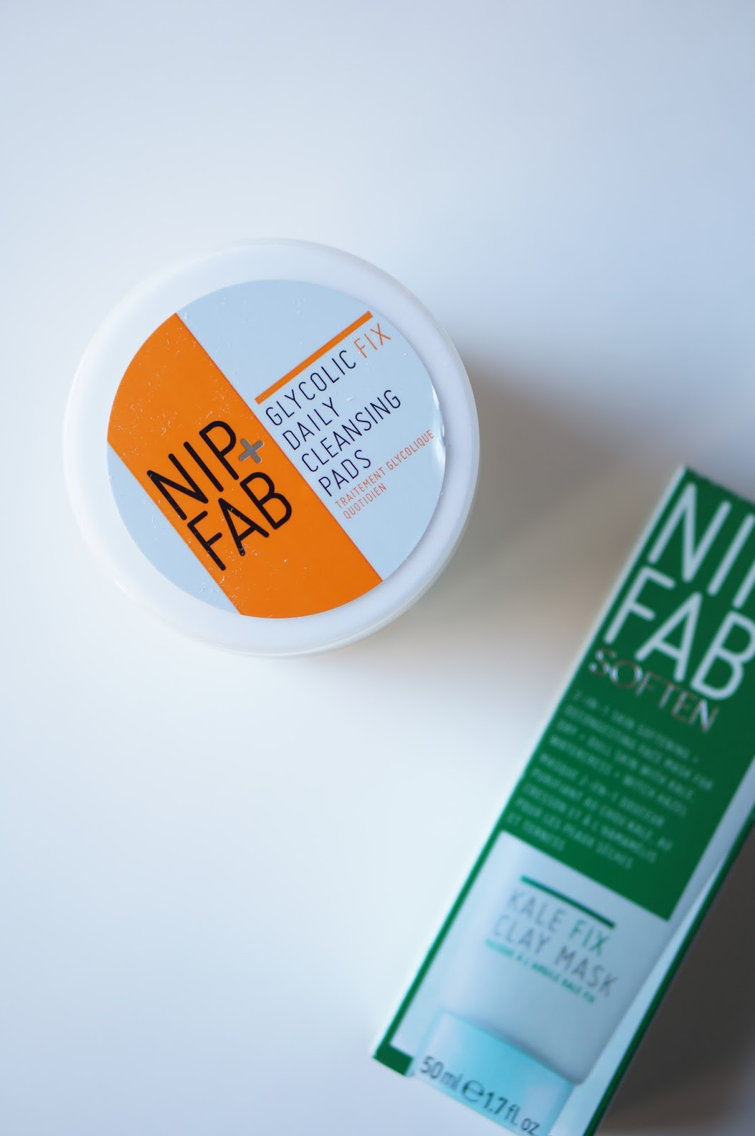Rebecca Lately NIP + FAB Glycolic Fix Pads Review NIP + FAB Kale Fix Clay Mask Review