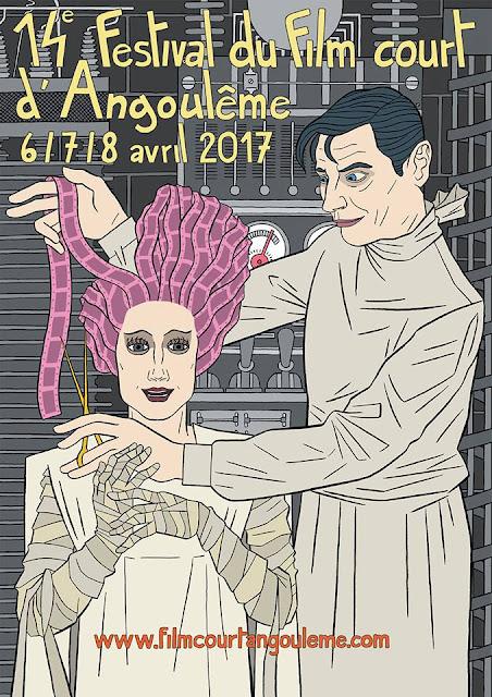 affiche du Film Court d'Angoulême 2017, Nicolas Gazeau