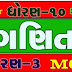 Standard 10 Maths Chapter 3 MCQ Solution In Gujarati