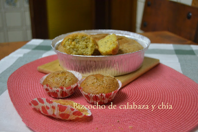 BIZCOCHO DE CALABAZA Y CHÍA