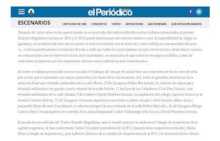 "Finalista ""Diploma Mérito de la Arquitectura Ricardo Magdalena"""