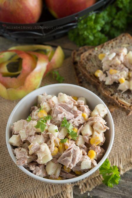 Mirabelkowy Blog Salatka Z Tunczyka Jablka I Kukurydzy