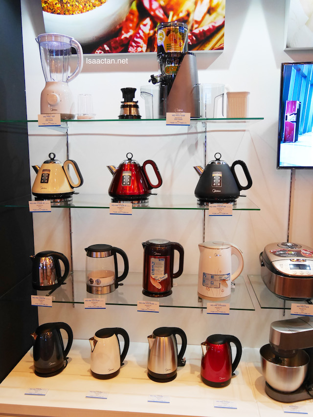 Various Midea products on display