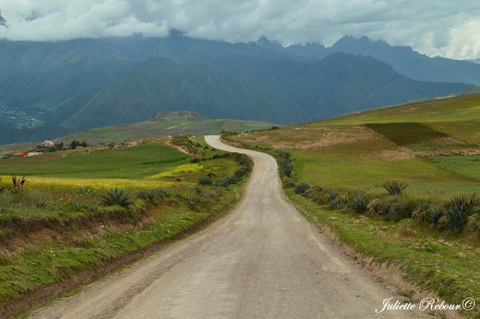 Route dans les Andes au Pérou