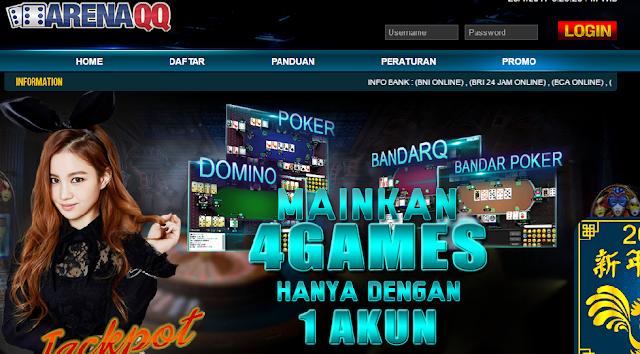 ArenaQQ pelopor permainan Domino Qiu Qiu, BandarQ, Poker Online, dan DominoBet