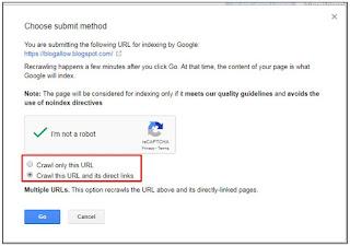 Cara Submit URL Artikel ke Google Webmaster Tools atau Google Search Console