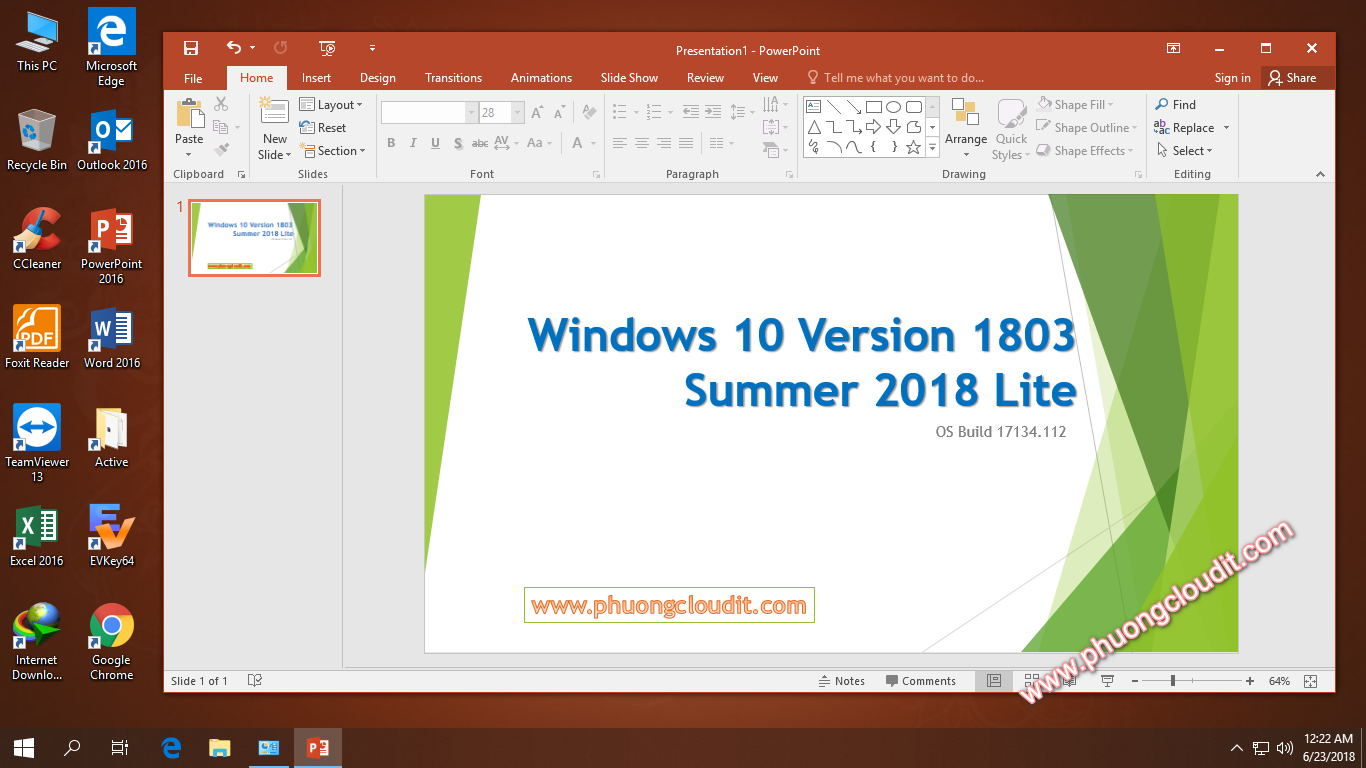 (GHOST / ISO) Windows 10 Version 1803 Summer 2018 Lite Build 17134.112