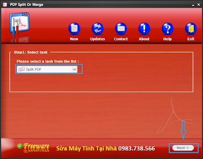 Cắt file PDF với PDF Siplit Or Merge - H01