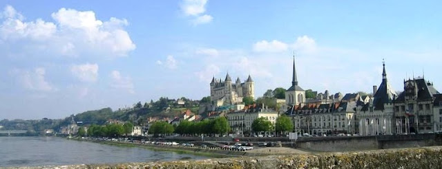 The town of Saumur in the Loire Valley