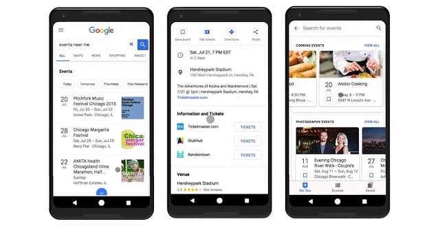 Google updates new features related to event around users